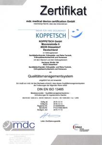 MDC QM Zertifikat 13485