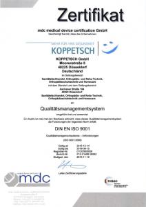 MDC QM Zertifikat 9001